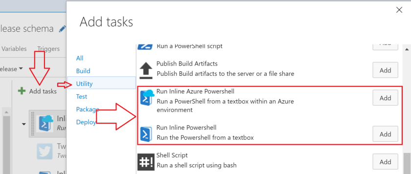 Run Inline Powershell and Azure Powershell - Visual Studio