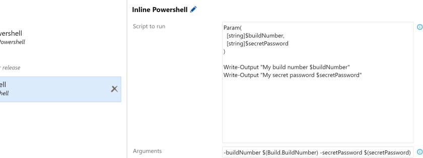 Run Inline Powershell and Azure Powershell - Visual Studio