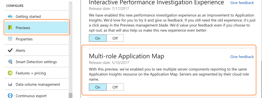 Multi process Application Insights Application Map Enable Preview