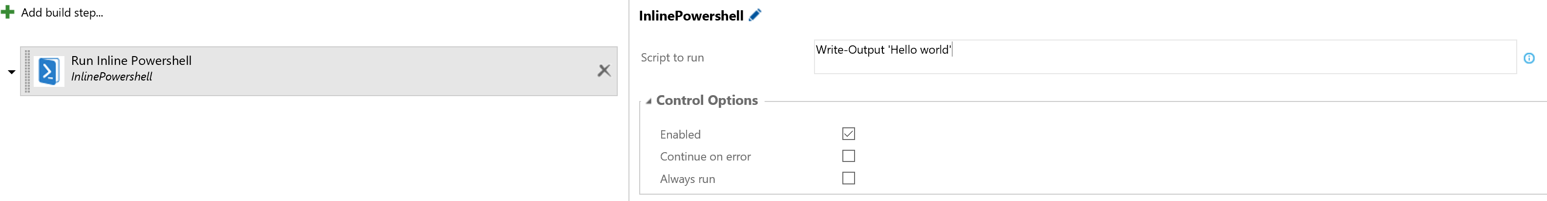 Use VSTS Variables Inline powershell in build and release